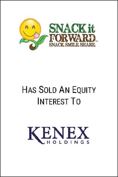 snack it forward equity interest investment banking transaction