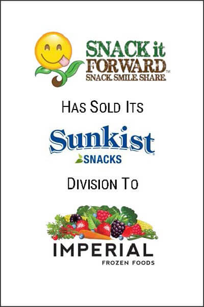 snack it forward sold investment banking transaction