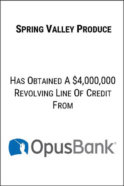 spring valley produce line of credit